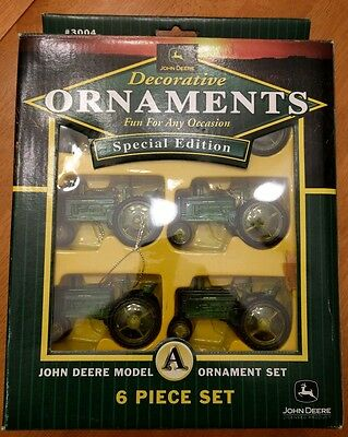 John Deere Decorative Ornaments special edition model A Set of 6 in BOX