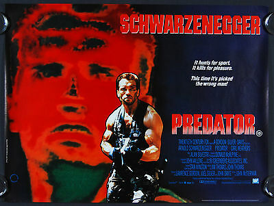 Predator (1987) Original British Quad Movie Poster.
