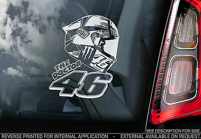 Valentino Rossi #46 - Moto GP Car Window Sticker - MotoGP Helmet Design - V02