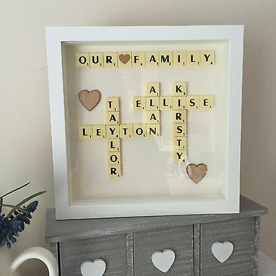 Scrabble Wall Art Personalised Picture Frame