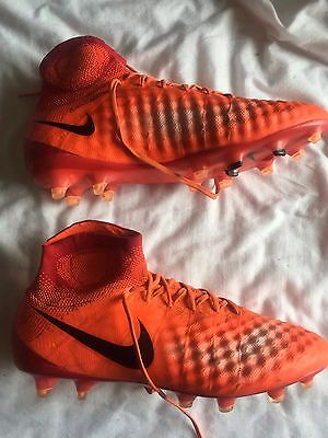 Nike Magista Obra II 2 Firm Ground FG Football Boots Red UK8.5 US9.5