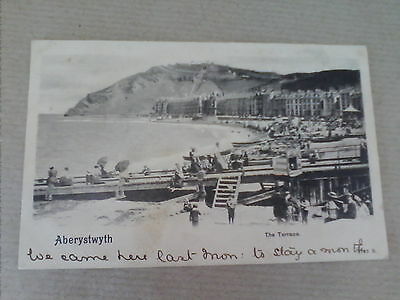 Vintage Postcard Aberystwyth, Wales The Terrace Posted 1903     (B4)