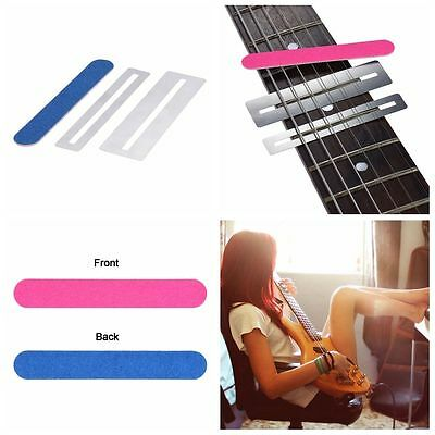 3 Pcs File Sanding Guitar Cleaning Polish Tool Fretboard Guard Protector