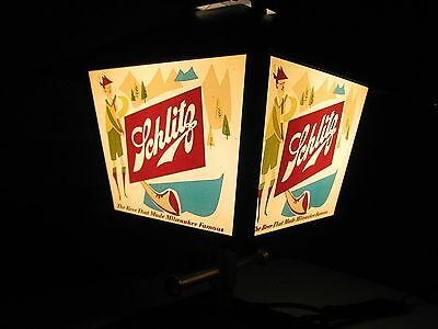 Vintage1958 Schlitz Lighted Light Coach Lamp Beer Sign Milwaukee Wisconsin Wi