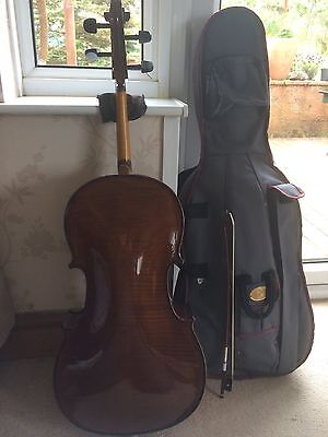1/8 Size Stentor Student II Cello Outfit Bow & Padded Cover