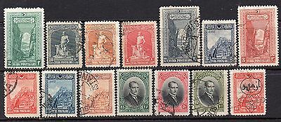 Turkey: A Very Nice Collection of 14- Used 1926 & 1928 issues (Reduced Postage)