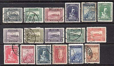 Turkey: A Very Nice Collection of 17- Used 1929 & 1930 issues (Reduced Postage)