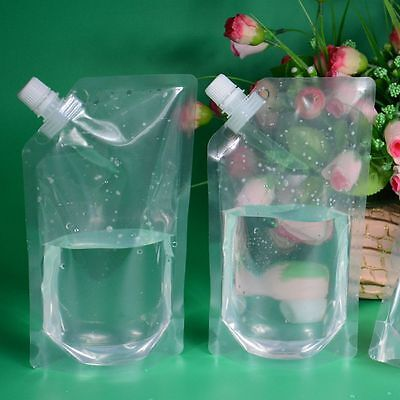 1PC Transparent Plastic DIY Fresh Bag Cruise Drinks Pocket Flask Suction