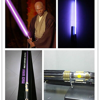 Star-Wars-Mace-Windu-Force-Lightsaber-Private-Vintage-Collectible-2005-Purple