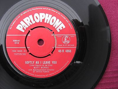 """Matt Monro  """" Is There Anything I Can Do """"    7"""" 45 vinyl record Issued 1962"""