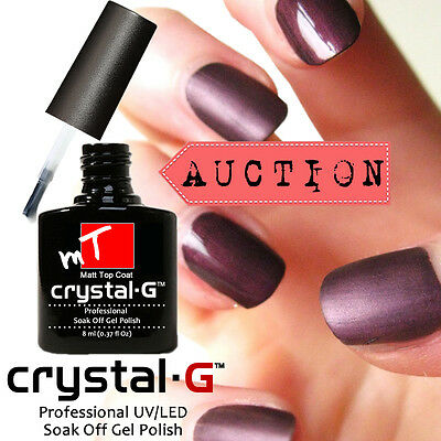 """Auction 2017 A Crystal-G Brand New """"CLEAR MATTE TOP COAT"""" UV/LED GEL Nail Polish"""