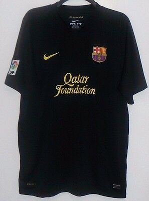Black Barcelona Football Shirt, Size Adult X Large