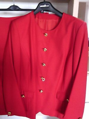 Tailleur Rosso Red