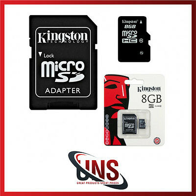 Kingston 8GB Micro SD Memory Card Mobile Phone Camera Class 4