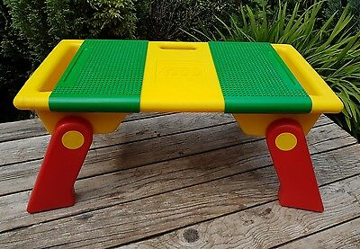(RARE) Lego Folding Play/Building Tray Table Storage,Yellow/Green/Red, Vintage