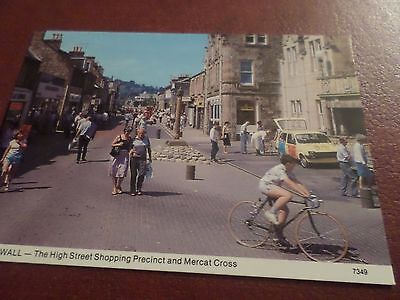 Postcard The High Street Shopping Precinct & Mercat Cross Dingwall Ross-Shire