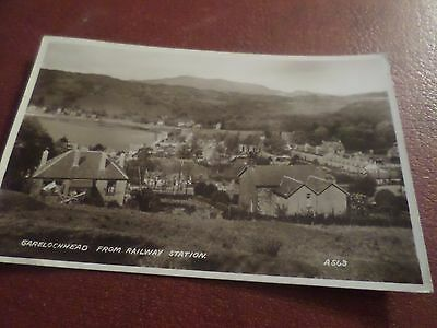 1944 Real Photo Postcard Garelochhead From Railway Station