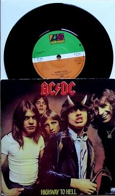 "EX/EX AC/DC 1979 HIGHWAY TO HELL b/w IF YOU WANT BLOOD 7"" VINYL 45"