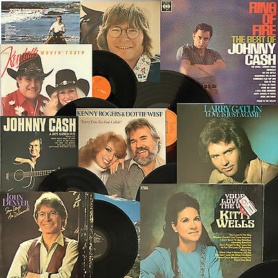 "LAST PRICE REDUCTION JOB LOT OVER 400 Country & Western Original Vinyl 12"" LP's"