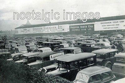 PHOTO TAKEN FROM A 1930's IMAGE OF THE CAR PARK OF DEEPDALE  PRESTON NORTH END