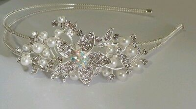 Childs Wedding Children Flower Girl crystal Tiara / Headband - Kids Size 00793