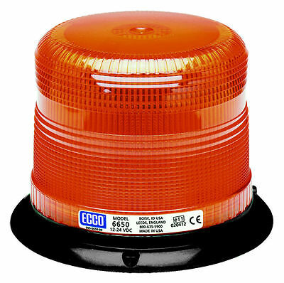 ECCO 6650A Low Profile Switchable Intensity Amber Emergency Strobe Warning Light