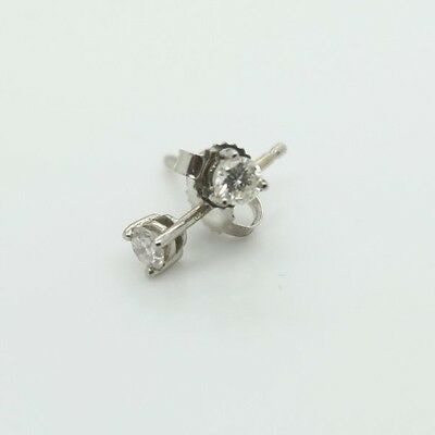18ct White Gold Diamond Stud Earrings BRAND NEW 0.20ct