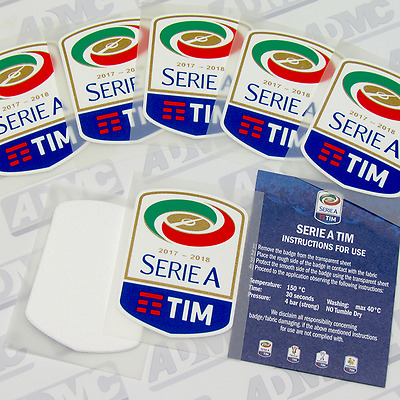 Serie A patch, toppa, 2017-18 official, player issue
