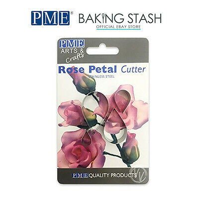 PME Stainless Steel Rose Petal Cutters - For Flower Making & Sugarcraft - 4 Pack