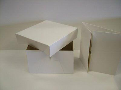 8 inch White Cake Box with removable Lid - 1 box