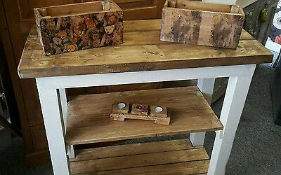 Handmade bespoke solid pine rustic kitchen island/farmhouse/freestanding unit