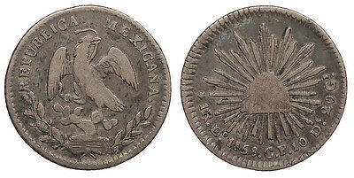 MEXICO 1858-Do CP Real Fine