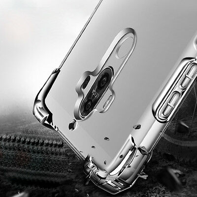360° Shockproof Transparent Silicone Soft TPU Back Case Cover Skin For Huawei