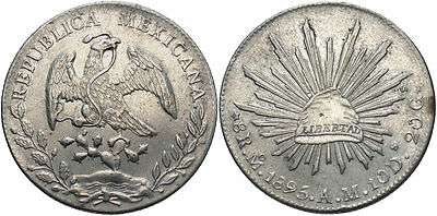 MEXICO: 1895 MO AM 8 Reales #WC69518