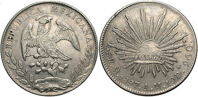 MEXICO: 1897 MO AM 8 Reales #WC69463