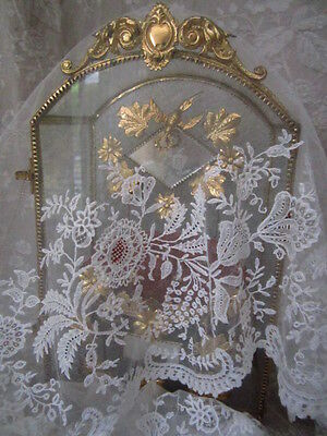 Exceptional ANTIQUE FRENCH BRUSSELS LACE Wedding Dress Flounce Edging 132'L