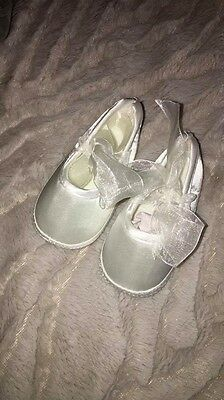 Ivory Lace Up Baby's Occasion Wear Shoes Size 3-6 Months