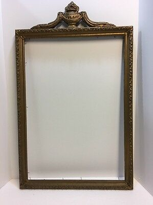 LARGE Antique Gold Gilt Wood Gesso PICTURE Frame ORNATE ROCOCO