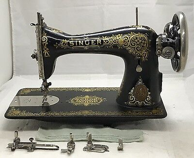 Singer Model 115 Treadle Sewing Machine Tiffany Gingerbread Decals,serviced, Vgc