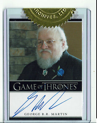 Game of Thrones Season 2 Autograph Card George R.R. Martin 6 Case Incentive Card