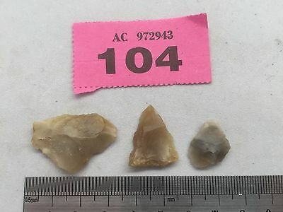 GENUINE FLINT ARROW HEADs (NEOLITHIC ?)   - circa 4000BC ? English Finds
