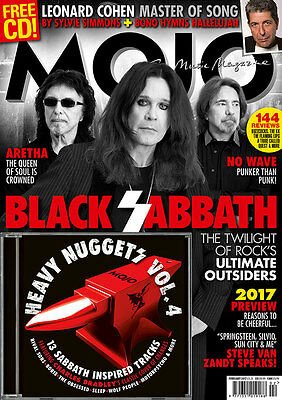 Mojo Magazine + Cd Issue 279 February 2017 Black Sabbath Leonard Cohen Aretha