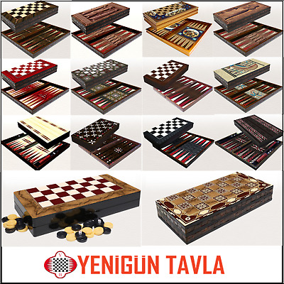 Large Backgammon Set Yenigun Foldable Wooden Board Game-Quality And Heavey