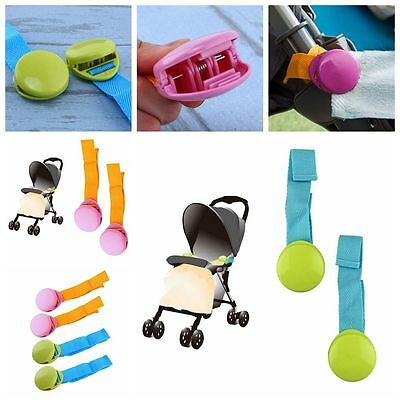 2PCs Sheets Clamps Pushchair Kids Trolley Tool Stroller Blanket Clip Anti-slip