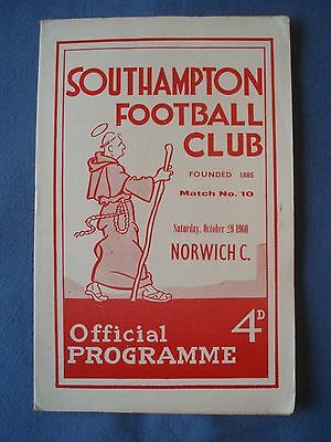 SOUTHAMPTON v NORWICH CITY, 29 OCT 1960, DIV 2.
