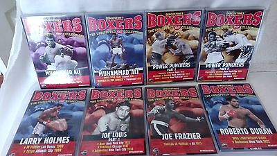 """DeAGOSTINI""""S BOXERS- EIGHT UNDISPUTED DVD COLLECTION - ALI//LOUIS/FRAZIER ..ETC."""