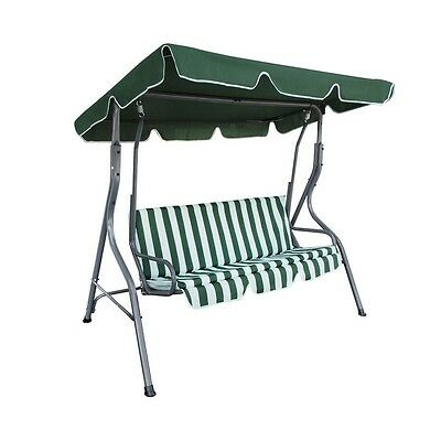 ALEKO Swing Bench Outdoor Canopy Porch Garden Swing Chair with Top Cover Green