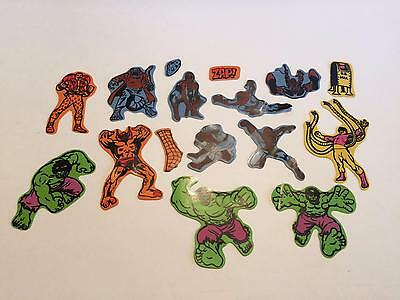 Rare 1970's Marvel Spider-Man & Hulk~Colorforms Replacement Figure Pieces ~Vhtf