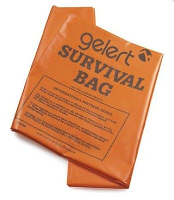 Gelert Orange Single Survival Blanket Emergency Camping & Hiking Size 90 x 180cm