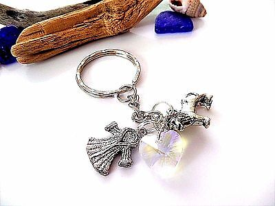 Narnia themed silver charm keyring lion witch wardrobe party bag gift favors